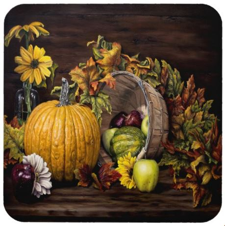 A Touch Of Autumn - Plastic Coaster Set