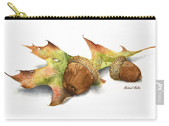 Autumn Oak And Acorns - Carry-All Pouch