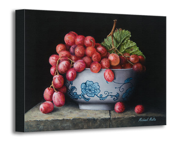 Bowl of Red Grapes - Original