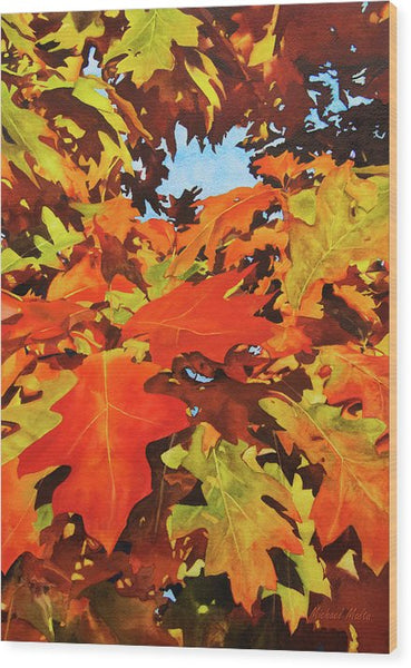 Burst Of Autumn - Wood Print