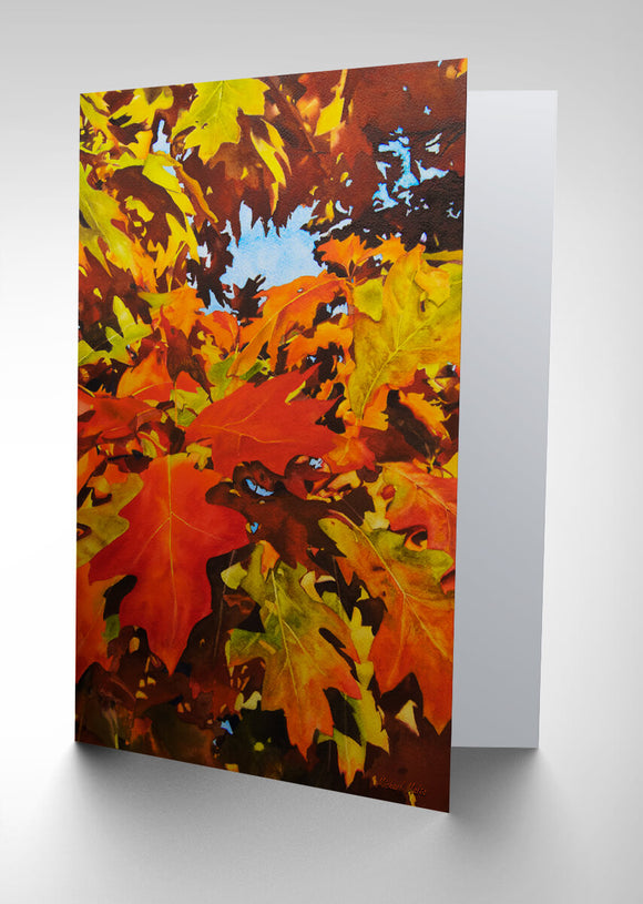 Burst Of Autumn - Greeting Card