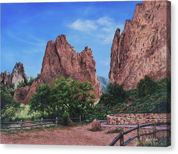North & South Gateway Rocks - Canvas Print