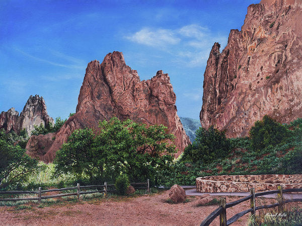 North & South Gateway Rocks - Art Print