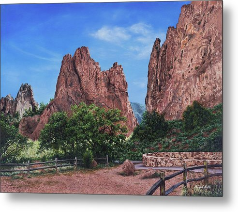 North & South Gateway Rocks - Metal Print