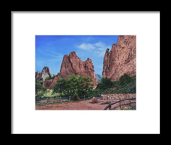 North & South Gateway Rocks - Framed Print