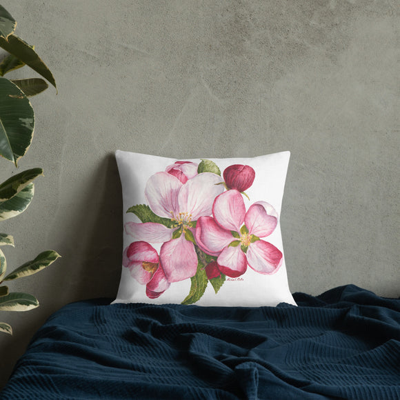 Apple Blossoms - Premium Pillow