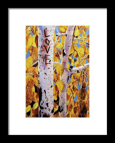 Quaking Aspens - Framed Print