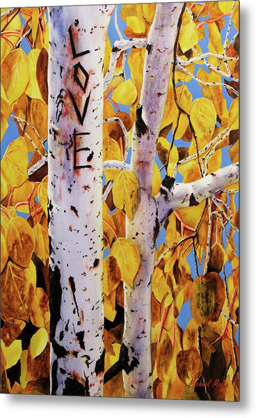 Quaking Aspens - Metal Print