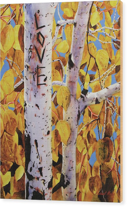 Quaking Aspens - Wood Print