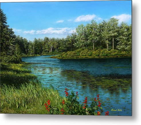 River View - Metal Print