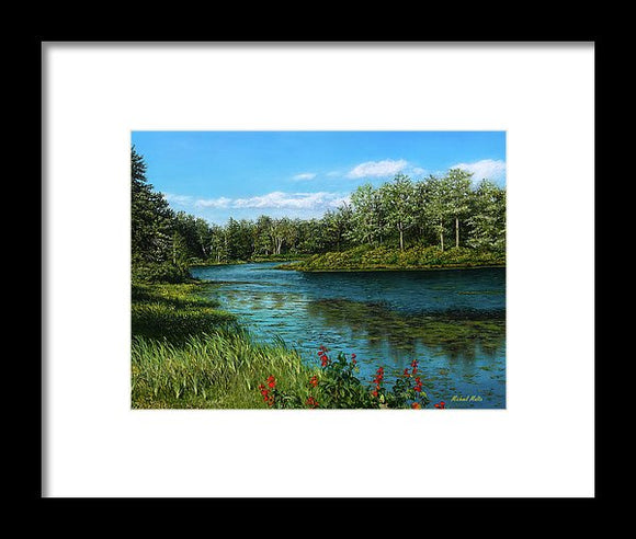 River View - Framed Print