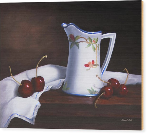 Simply Cherries - Wood Print