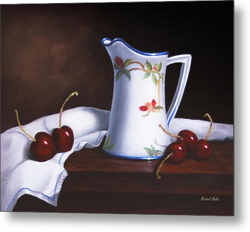 Simply Cherries - Metal Print