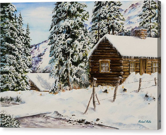 Snowy Retreat - Canvas Print