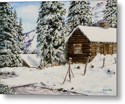 Snowy Retreat - Metal Print