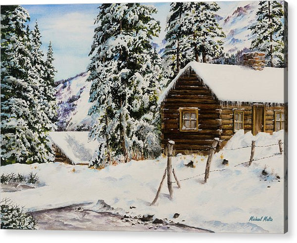 Snowy Retreat - Acrylic Print