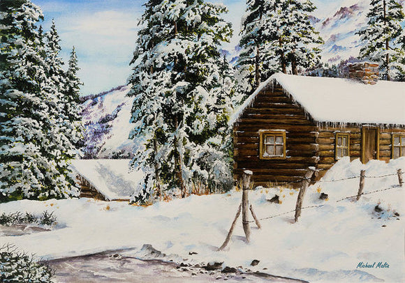 Snowy Retreat - Art Print