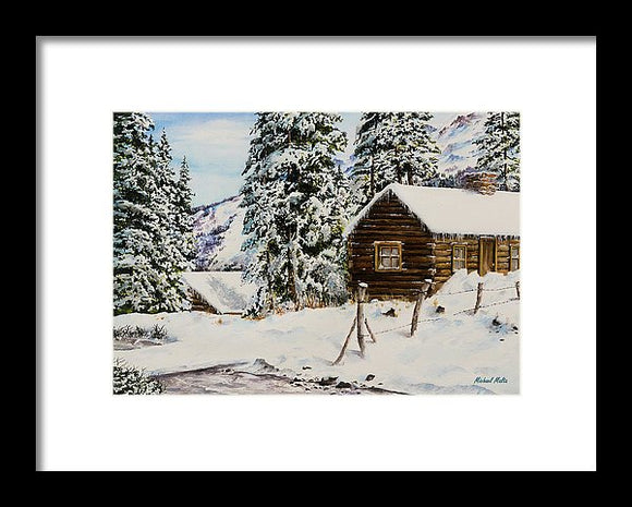 Snowy Retreat - Framed Print