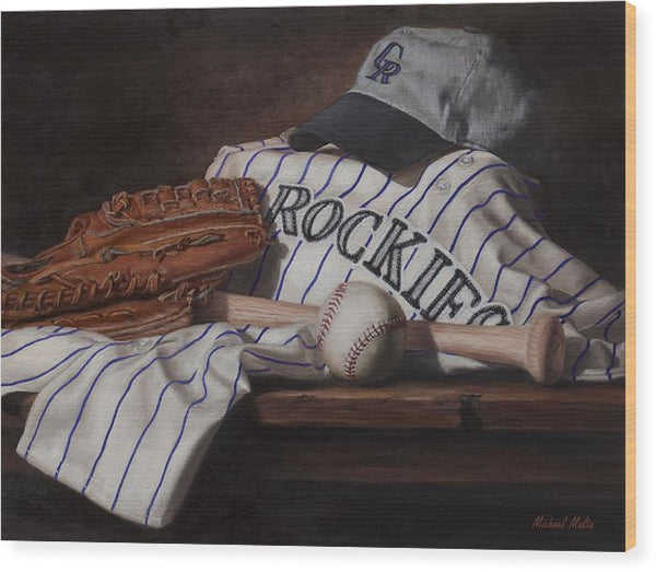 The Colorado Rockies - Wood Print