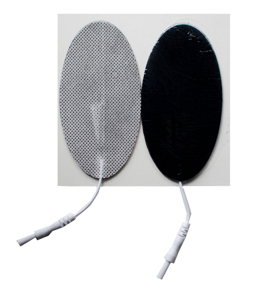 "2"" x 4"" Oval Fabric Electrodes - (4/pk)"