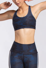 Load image into Gallery viewer, WITH Heather Camo Strappy Bra (Navy)