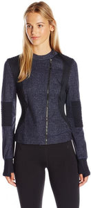 SHAPE Crop Moto Jacket (Denim)