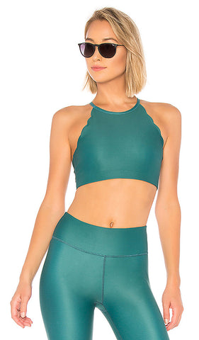 CHILL BY WILL Riley Scallop Bra (Emerald)