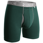 2UNDR Power Shift 6inch Boxer Brief Solids (Multiple Colors)