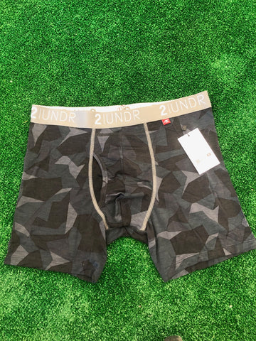 2UNDR Swing Shift-6in Boxer Brief Black Camo