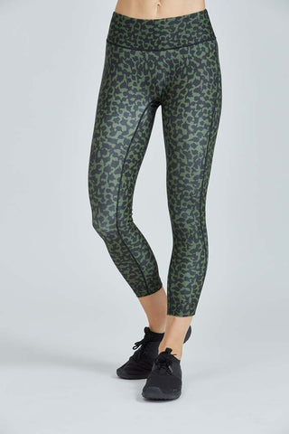 PRISMSPORT High Waisted Green Vines Legging