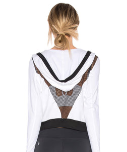 CHICHI Jojo Crop Hooded Jacket (White)