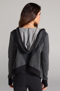 CHICHI Jojo Crop Hooded Jacket (Charcoal)