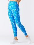GLYDER High Power Legging: Water Color Roses Electric Blue