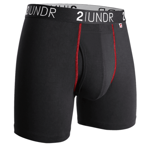 2 UNDR Swing Shift Boxer Black/Red