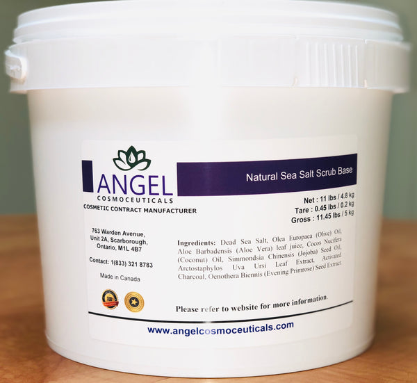 Natural Sea Salt Scrub Base - Angel-Cosmoceuticals