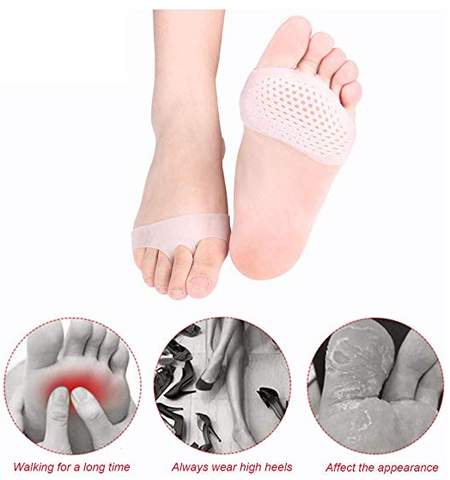 Metatarsal pads , foot pads for ball of feet , silicone honeycomb forefoot pads - INOOREXPRESS