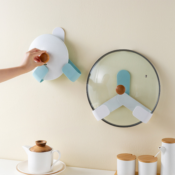 No-Punch Pot Cover Rack