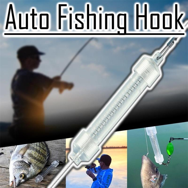 Automatic Spring-Loaded Fishing Hook