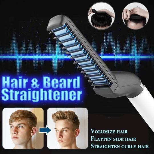 Hair Beard Heated Straightening Brush