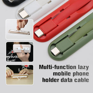 Multi-function Lazy Mobile Phone Holder Data Cable