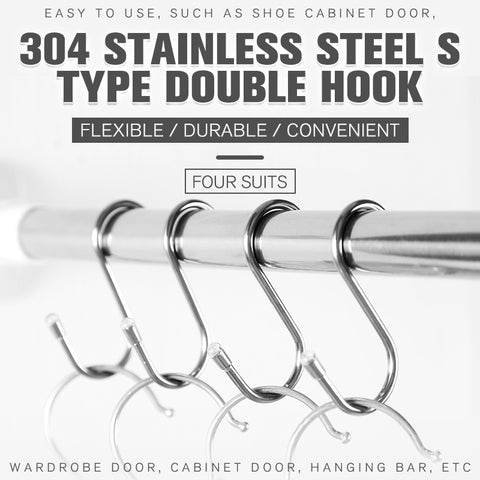 Multifunction 304 Stainless Steel S Type Double Hook