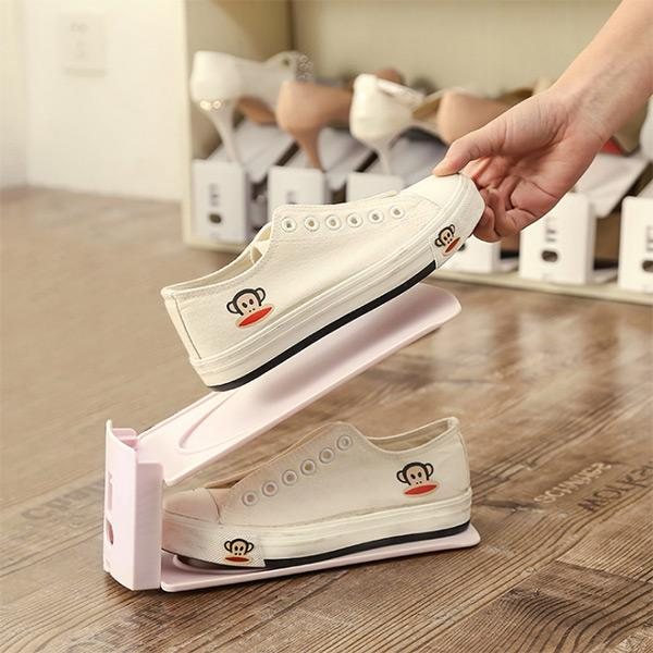 Double Adjustable Shoe Rack