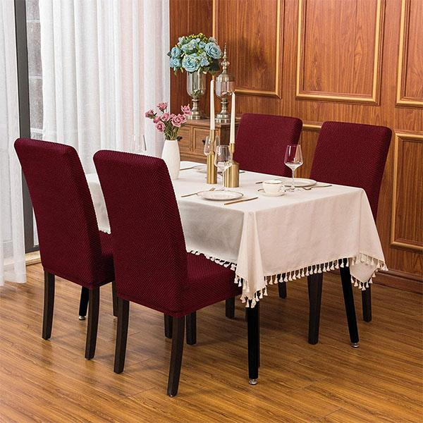 Jacquard Dining Room Chair Slipcovers
