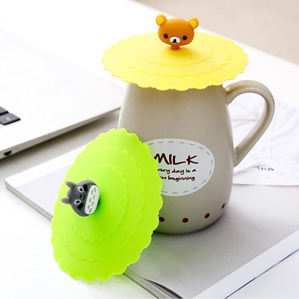 Cartoon Silicone Dustproof Cup Cover