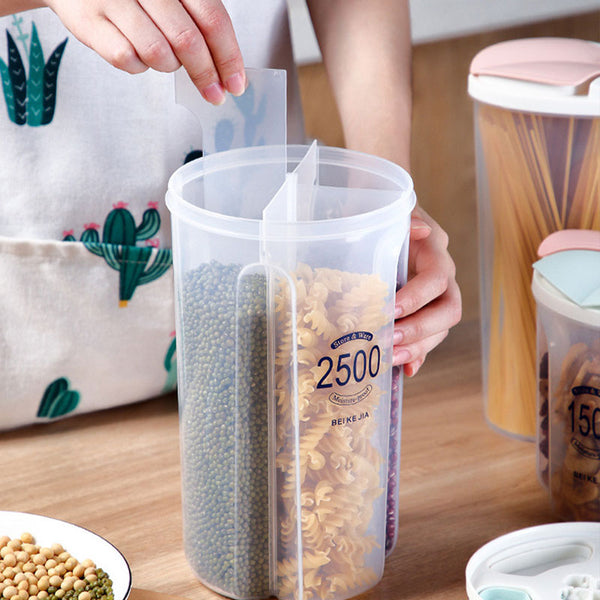 Four-grid Transparent Grain Jar