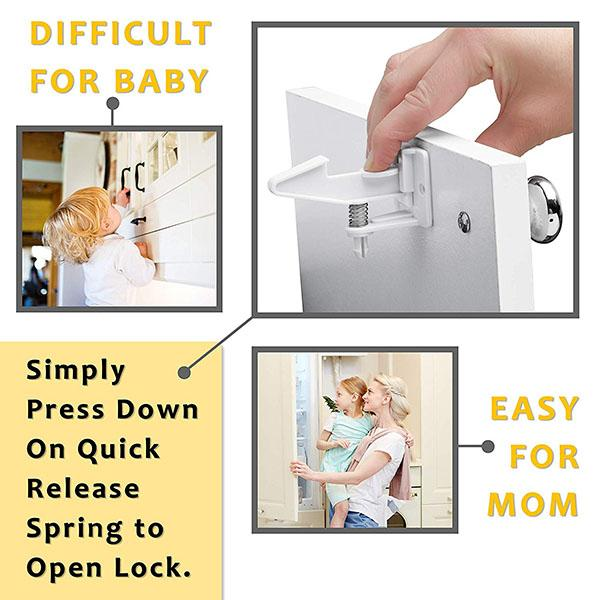 Invisible Spring Child Safety Latches