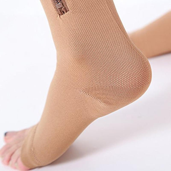 Zipper Compression Pain Relief and Anti Swollen Ankles Comfy Socks