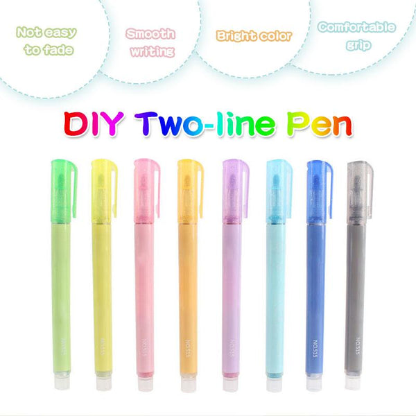 DIY Two-line Pen(8 PCS)