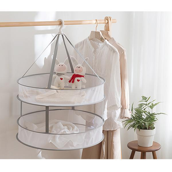 Folded Mesh Clothes Hanging Dryer