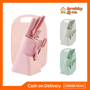 BREKKY™ Kitchen Knife Set & Chopping Board